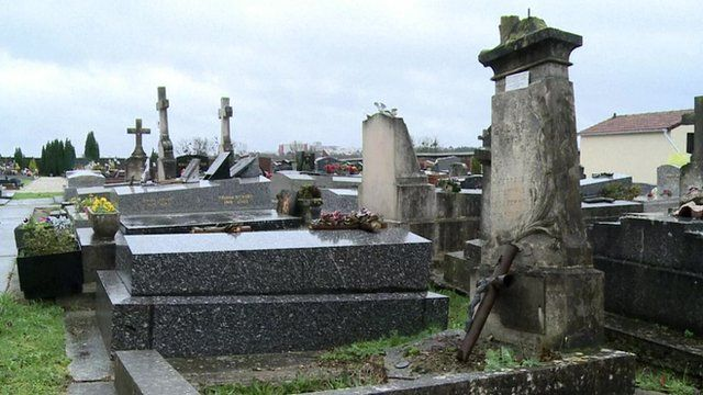 A cemetery in Champlan, France