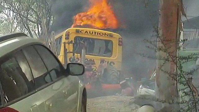 A fire in Australia