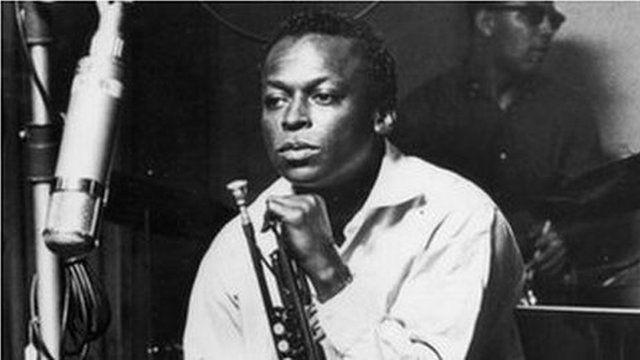 Miles Davis in a recording session