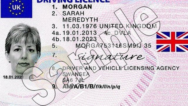 The flag is due to start appearing on all new licences later this year