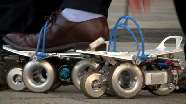 Consumer Electronics Show: Electric roller skates 'save time'