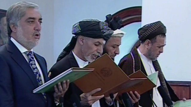 Ashraf Ghani at swearing in ceremony