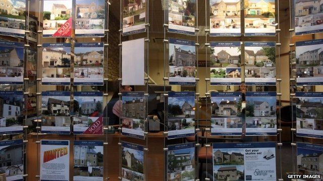 The window of an estate agent