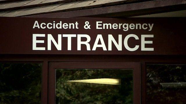 A&E entrance sign