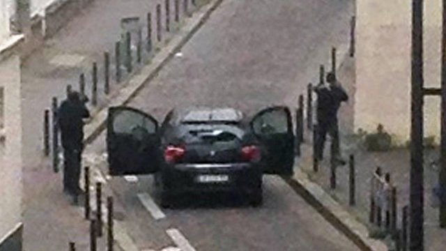 Scene at Paris shooting
