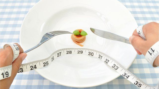 A tape measure and a plate