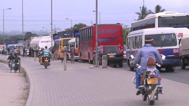 Traffic in Dar es Salam