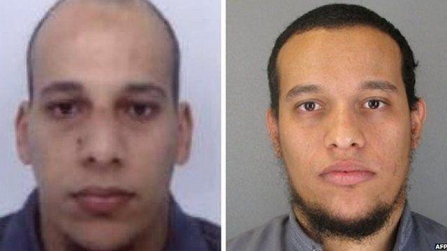 Kouachi brothers' headshots