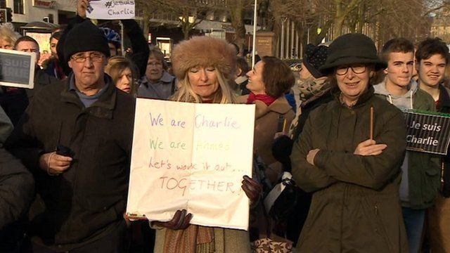 Charlie Hebdo vigil in Bristol