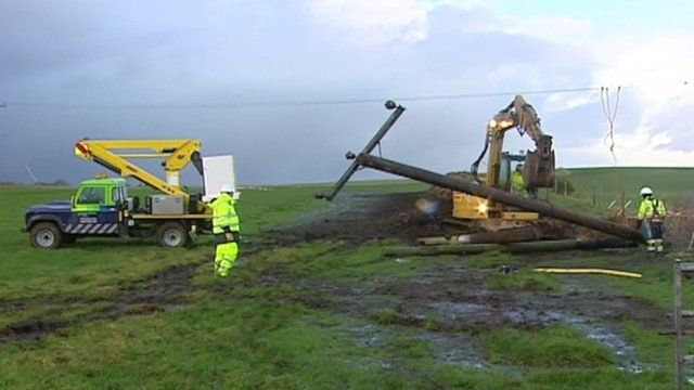 Bad weather has caused power cuts to thousands of homes