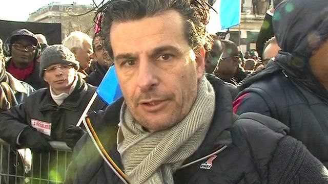 Thierry, attending a unity rally in Paris