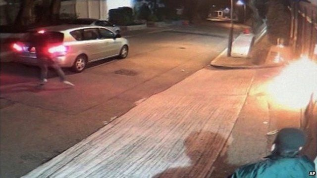 CCTV video of the attack