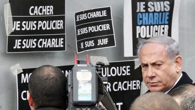 Israeli Prime Minister Benjamin Netanyahu at kosher market
