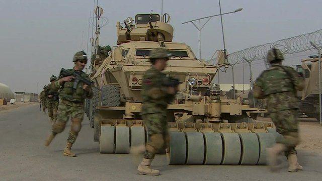 Afghan troops training in Helmand