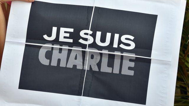 A 'Je suis Charlie' sign