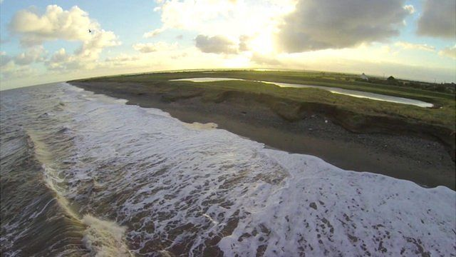 The Holderness coast in east Yorkshire
