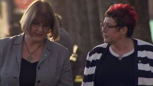 Phyllis Carruthers (left) and Shelley Gilfillan have travelled to Westminster for the hearing