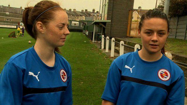 Girls from Caernarfon football club