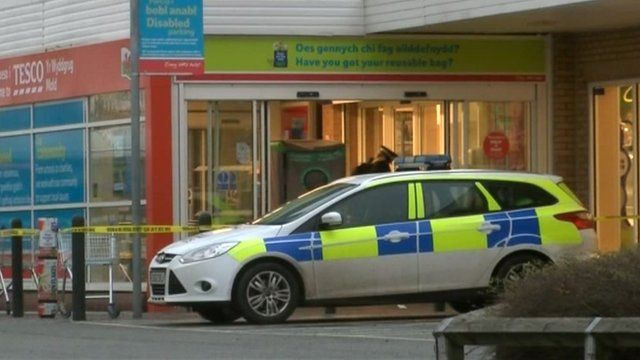 Police at Tesco store