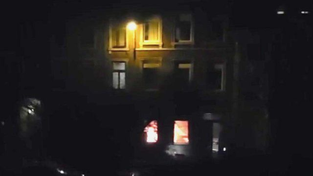 Amateur video of terror raid in Verviers