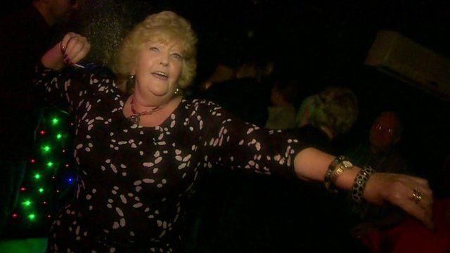Lady dancing in nightclub