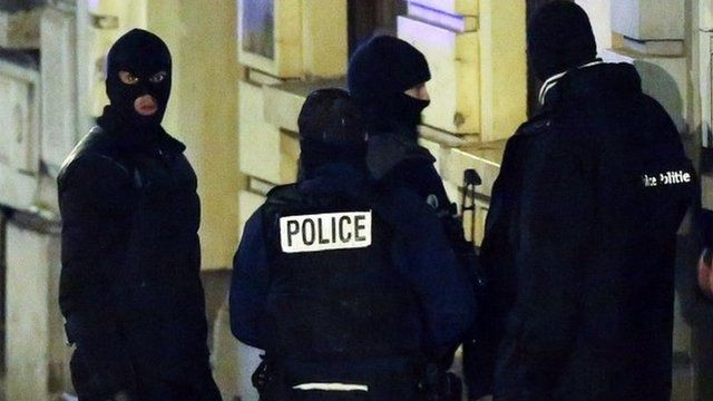 Belgian police in Verviers. Photo: 15 January 2015