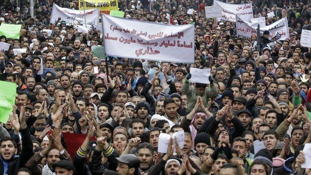 Protests in Jordan against Charlie Hebdo's cartoon