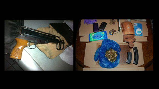Guns and ammunition seized
