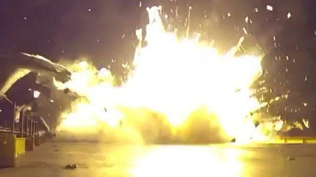 The moment SpaceX's Falcon 9 rocket crash landed