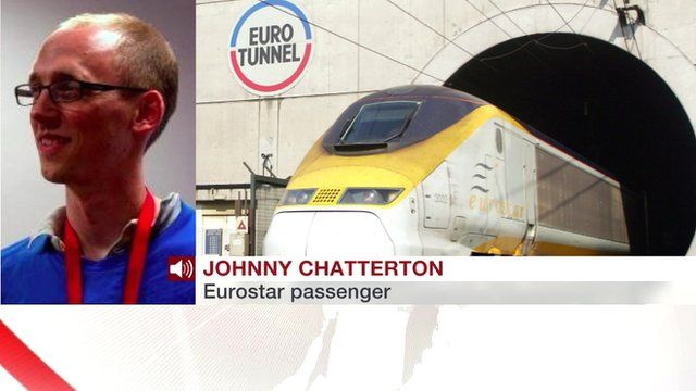 Picture of Johnny Chatterton and a Eurostar train
