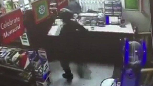 The convenience store has been targeted three times
