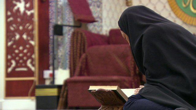 'Linda' reading a Koran