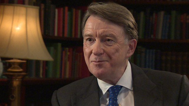 Former Cabinet minister Peter, now Lord Mandelson
