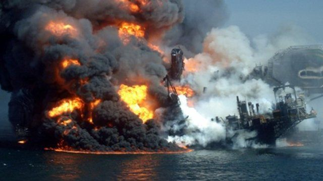 Deepwater Horizon fire - file image