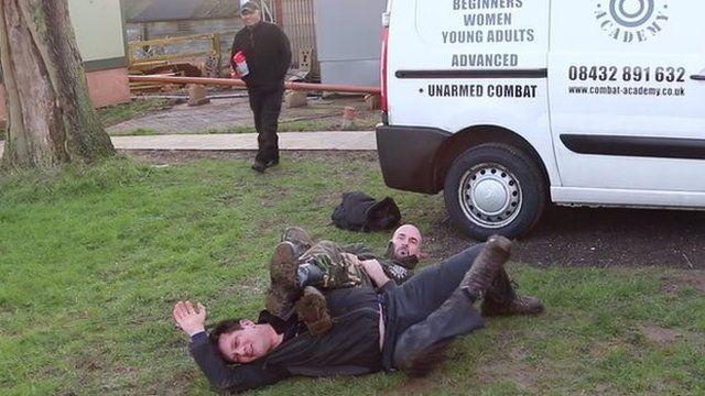 Steve Baker MP and cage fighter Reece Coker