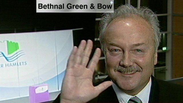 George Galloway at election count