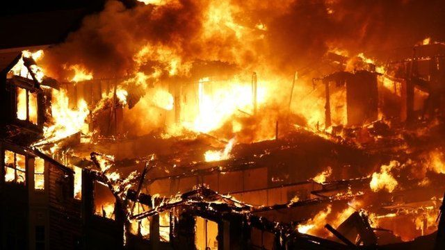 new jersey apartment block destroyed in huge fire bbc news