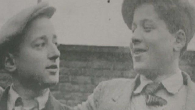 Holocaust survivor Ivor Perl with his brother