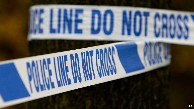 A police crime scene