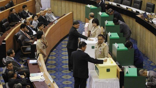 National Legislative Assembly members vote on impeaching