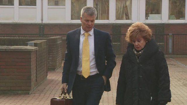 Barbara Knox arrives at Crewe Magistrates' Court