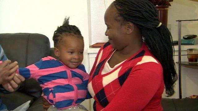 Sanele Mhlanga and her daughter Karen