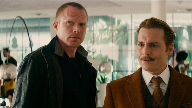 Paul Bettany and Johnny Depp in Mortdecai