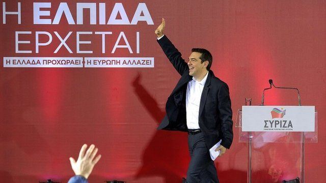 Alexis Tsipras at the rally in Heraklion