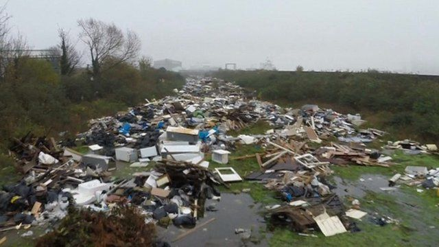 Cory's Wharf fly-tipping site