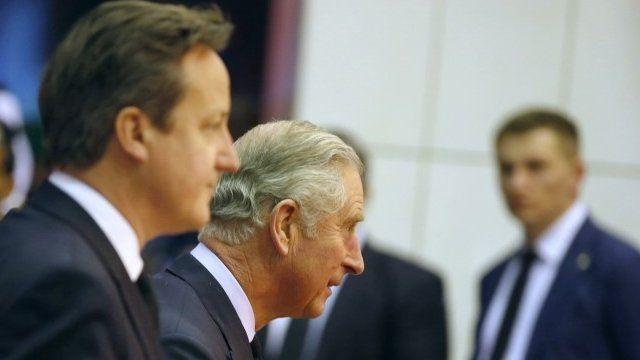 Prince Charles and Prime Minister David Cameron