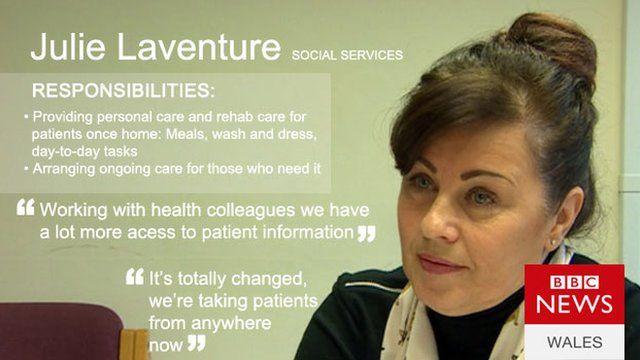 Social services worker Julie Laventure
