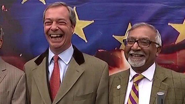 Nigel Farage and Amjad Bashir