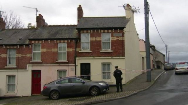 The body of Rimantis Tamosiunas was discovered in an end-of-terrace house in Catherine Street, Newry