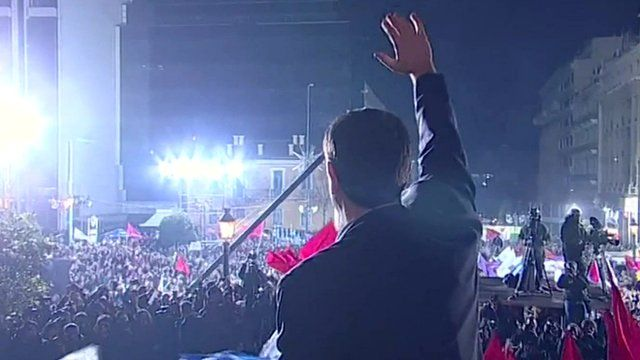 Party leader speaks to crowds